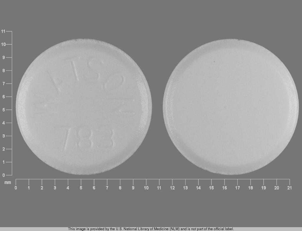 Imprint WATSON 783 - diethylpropion 25 mg
