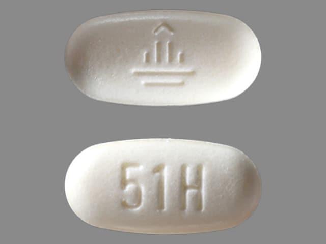 Imprint 51H Logo - Micardis 40 mg