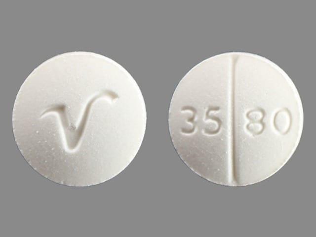 Imprint V 3580 - hydrocortisone 20 mg