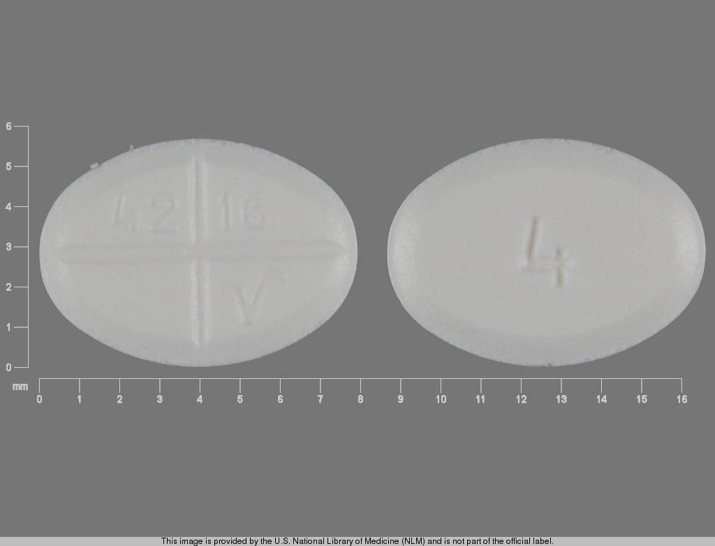 Imprint 4 42 16 V - methylprednisolone 4 mg