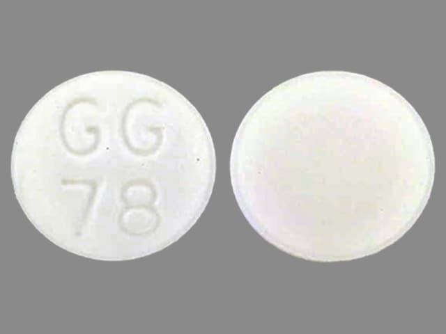 Imprint GG78 - methazolamide 25 mg