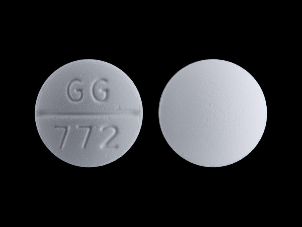 Imprint GG 772 - glipizide 10 mg