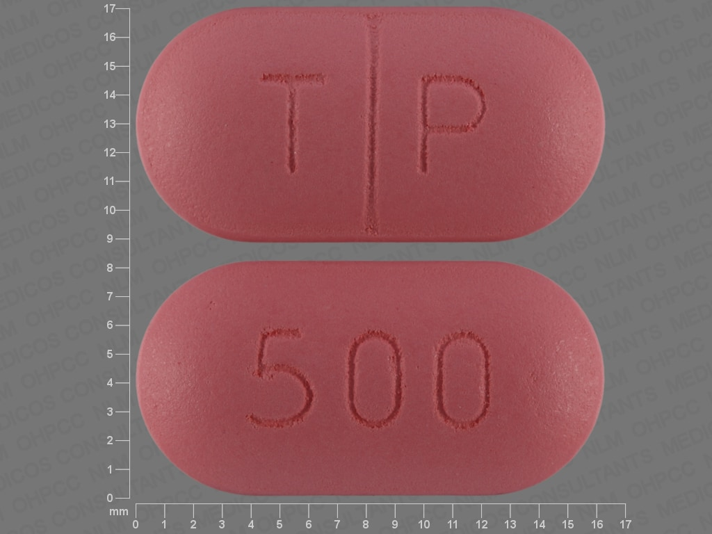 Imprint T P 500 - tinidazole 500 mg