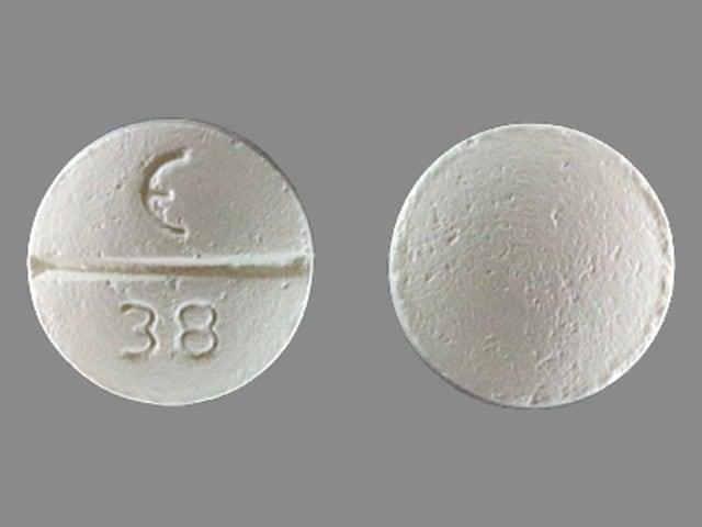 Imprint E 38 - betaxolol 10 mg
