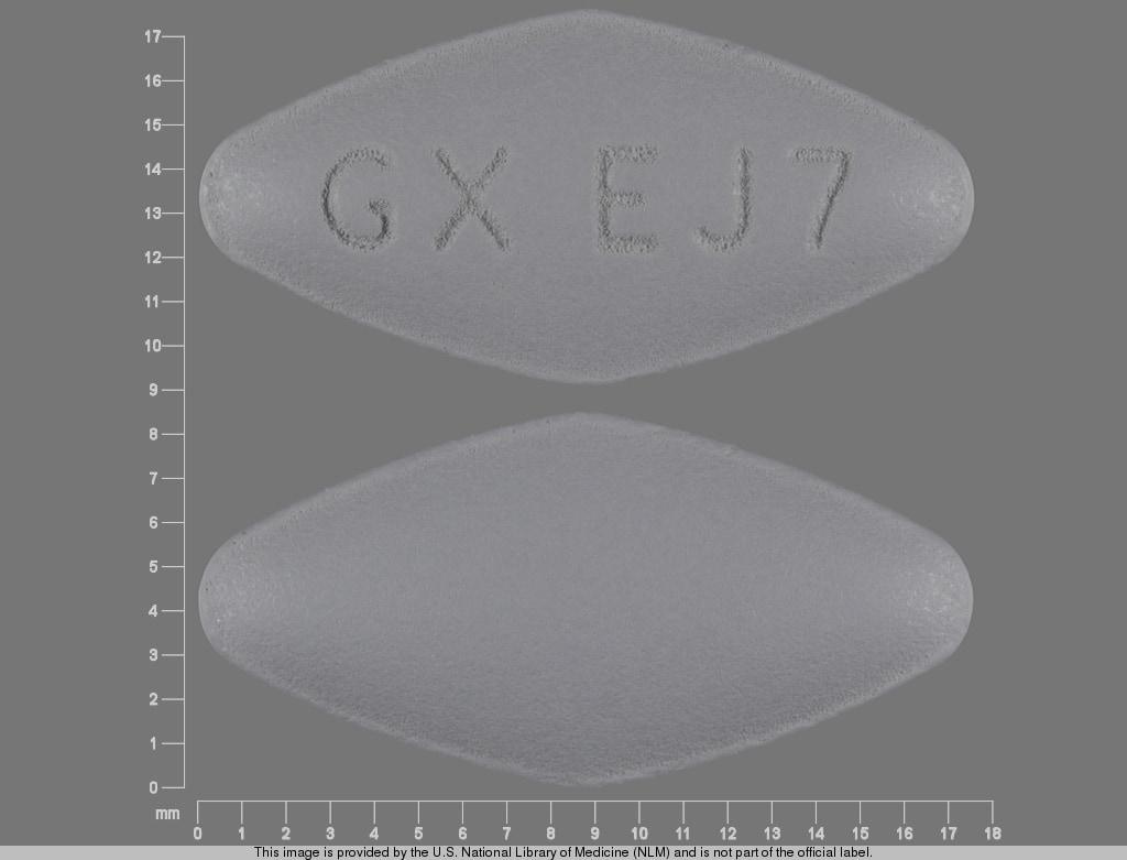 Imprint GX EJ7 - Epivir 300 mg