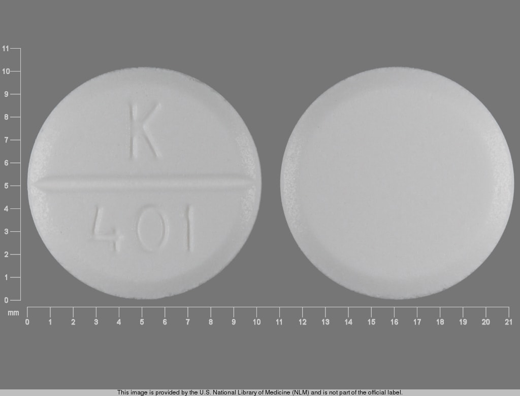 Imprint K 401 - glycopyrrolate 2 mg