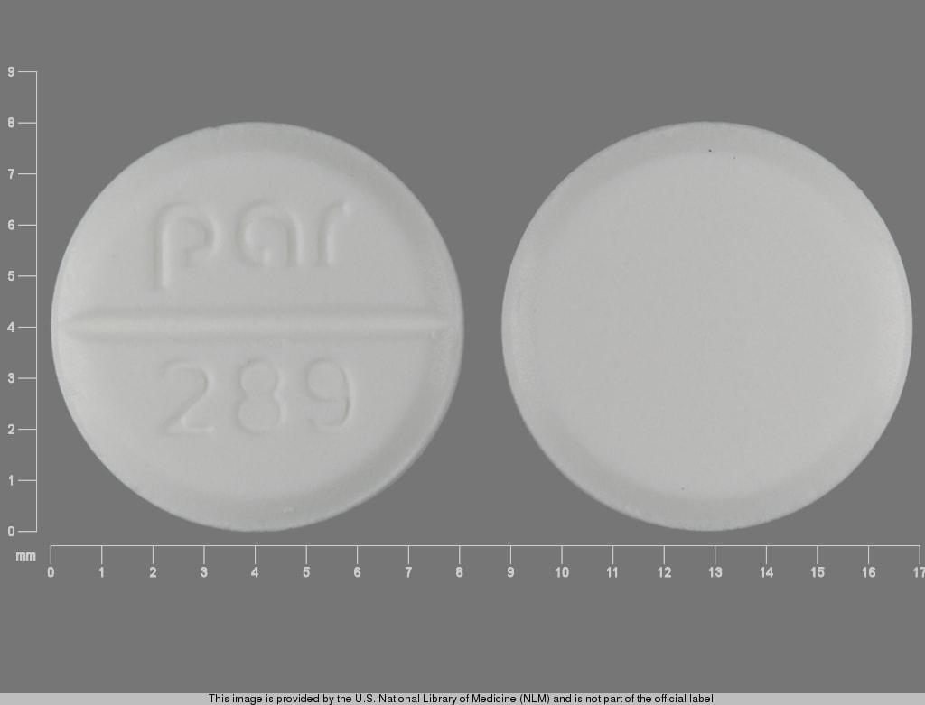 Imprint par  289 - megestrol 20 mg