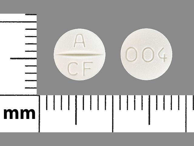 Imprint A CF 004 - candesartan 4 mg