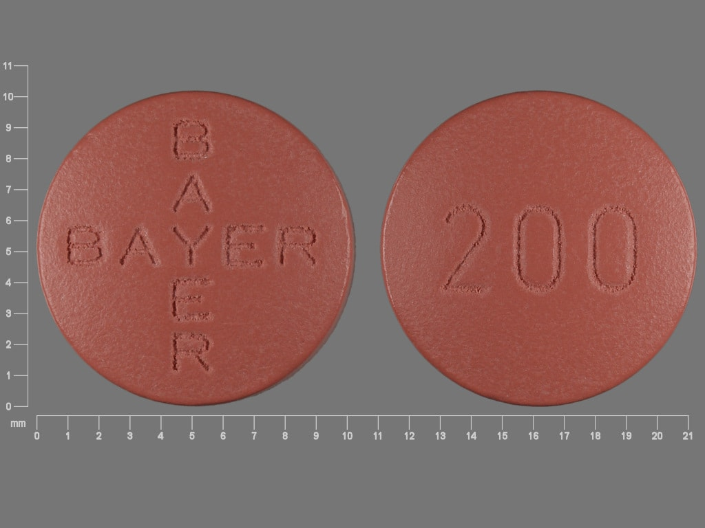 Imprint BAYER BAYER 200 - Nexavar 200 mg