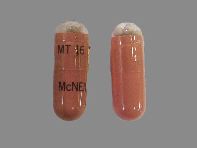 Imprint MT 16 McNEIL - Pancreaze 70,000 USP units amylase; 16,800 USP units lipase; 40,000 USP units protease