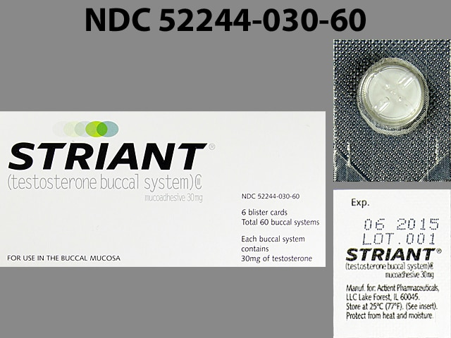 Imprint A - Striant 30 mg