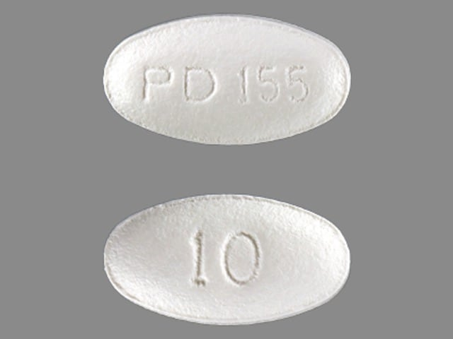 Imprint PD 155 10 - atorvastatin 10 mg