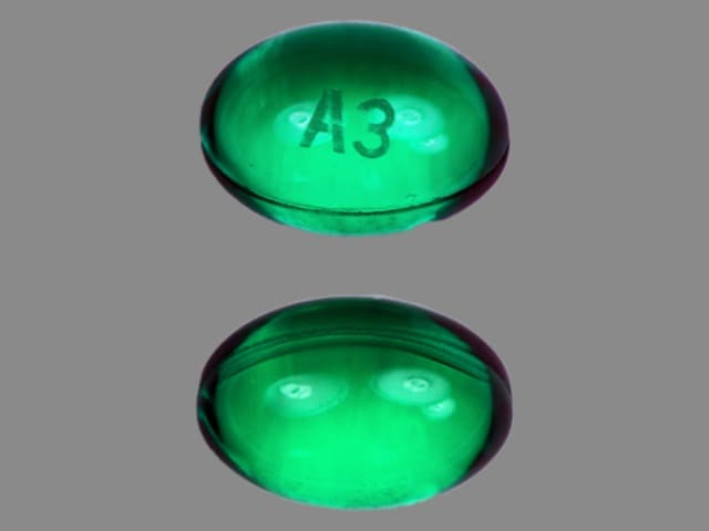 Imprint A3 - ergocalciferol 50,000 USP units (ergocalciferol 1.25 mg)