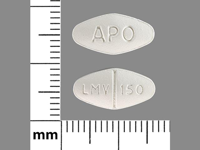 Imprint APO LMV 150 - lamivudine 150 mg