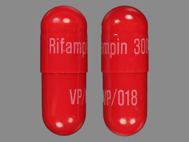 Image 1 - Imprint Rifampin 300 VP/018 - rifampin 300 mg
