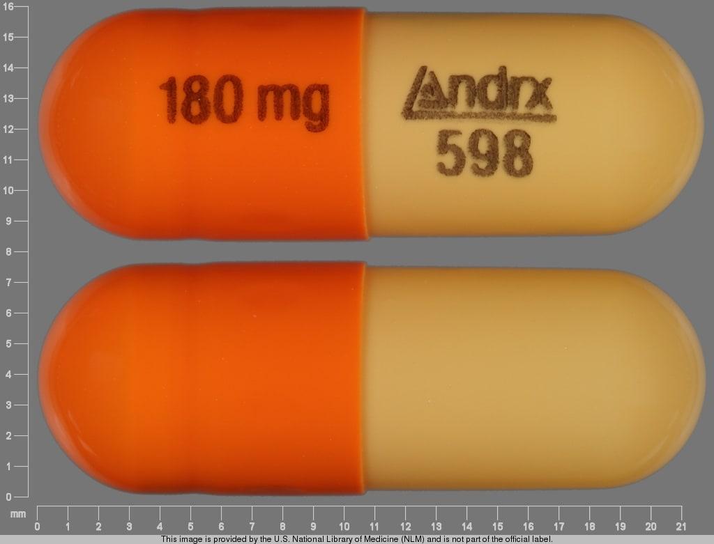 Image 1 - Imprint 180 mg Andrx 598 - Cartia XT 180 mg