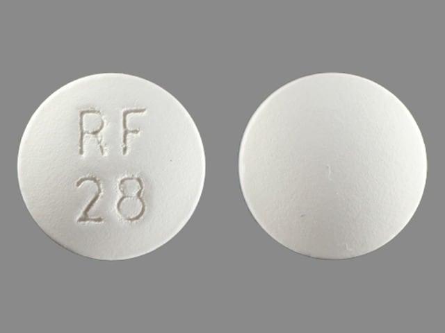 Imprint RF 28 - chloroquine 500 mg