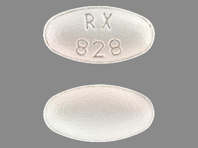 Imprint RX 828 - atorvastatin 20 mg