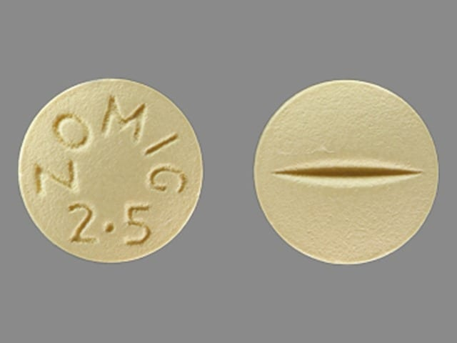 Imprint ZOMIG 2.5 - Zomig 2.5 mg