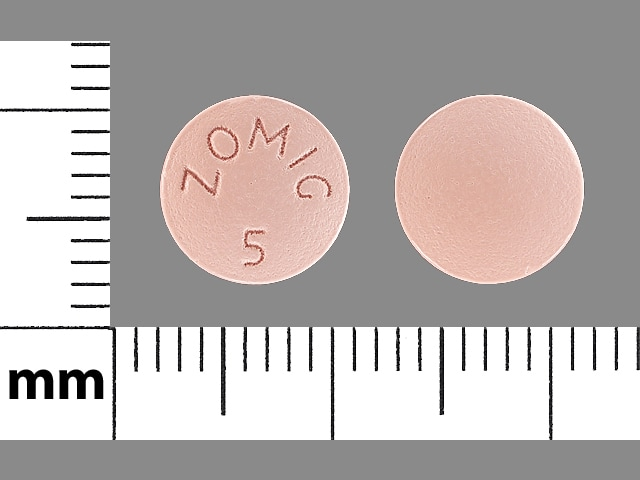 Imprint ZOMIG 5 - Zomig 5 mg