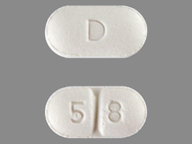 Imprint D 5 8 - perindopril 4 mg