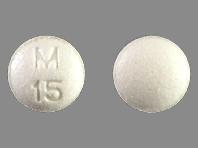 Imprint M 15 - atropine/diphenoxylate 0.025 mg / 2.5 mg