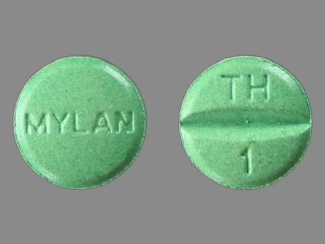 Image 1 - Imprint TH 1 MYLAN - hydrochlorothiazide/triamterene 25 mg / 37.5 mg