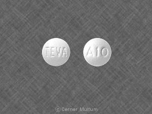 Imprint TEVA A10 - anastrozole 1 mg