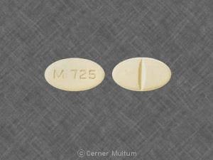Imprint M 725 - benazepril/hydrochlorothiazide 5 mg / 6.25 mg