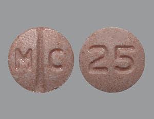 Imprint M C 25 - candesartan 8 mg