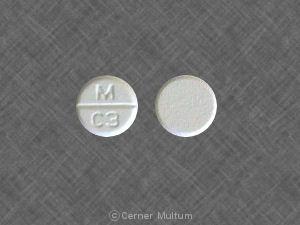 Image 2 - Imprint M C3 - captopril 50 mg
