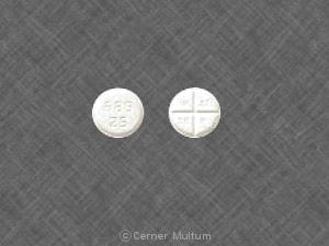 Image 1 - Imprint 689 25 WATSON - captopril 25 mg