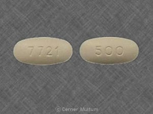 Image 1 - Imprint 500 7721 - Cefzil 500 mg