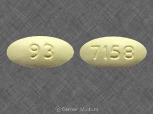 Imprint 93 7158 - clarithromycin 500 mg