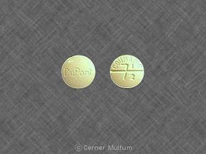 Image 1 - Imprint DuPont COUMADIN 7/12 - Coumadin 7.5 mg
