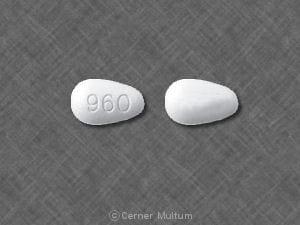 Imprint 960 - Cozaar 100 mg
