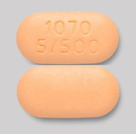 Imprint 1070 5/500 - Xigduo XR 5 mg / 500 mg