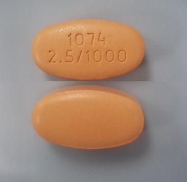 Imprint 1074 2.5/1000 - Xigduo XR 2.5 mg / 1000 mg