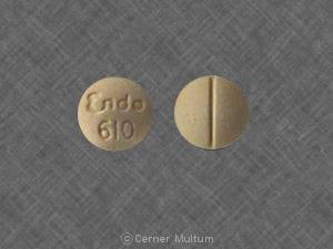 Image 1 - Imprint Endo 610 - Endodan aspirin 325 mg / oxycodone hydrochloride 4.8355 mg