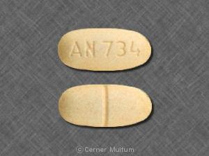 Imprint AN 734 - felbamate 400 mg