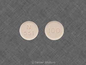 Imprint 100 N 551 - fluconazole 100 mg