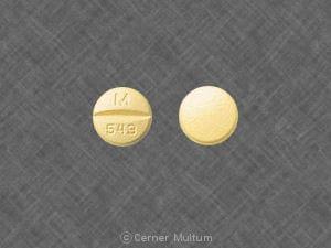 Imprint M 543 - hydrochlorothiazide/quinapril 12.5 mg / 20 mg
