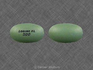 Image 1 - Imprint LODINE XL 500 - Lodine XL 500 mg