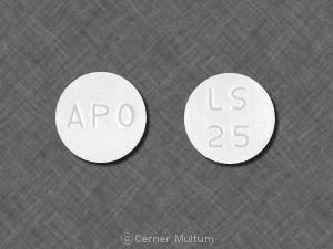 Imprint APO LS 25 - losartan 25 mg