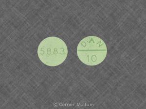 Imprint 5883 DAN 10 - methylphenidate 10 mg