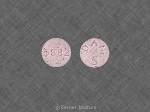 Imprint 5882 DAN 5 - methylphenidate 5 mg