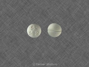 Imprint 54 582 - Roxicodone 5 mg