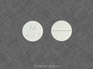 Imprint M 437 - spironolactone 100 mg