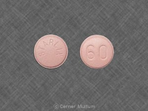 Imprint STARLIX 60 - Starlix 60 mg