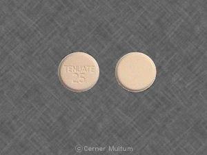 Imprint TENUATE 25 - Tenuate 25 mg